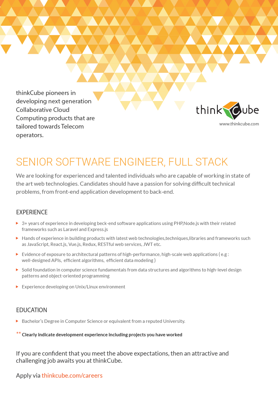 SENIOR SOFTWARE ENGINEER-FULLSTACK