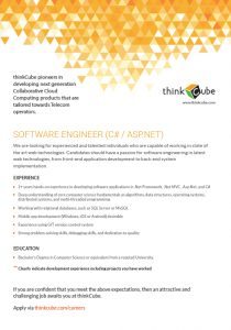 SOFTWARE ENGINEER - C#